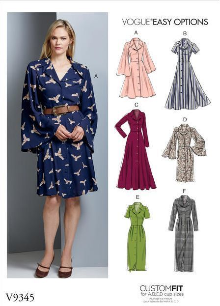 Patron couture robe femme hiver